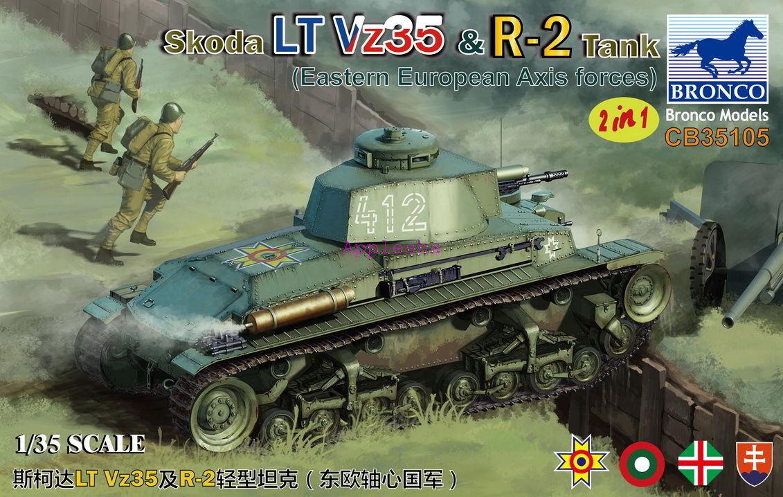 Bronco 1  35105 Skoda LT Vz35 & R -2 Tank (östeuropeiska axelmakter)