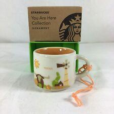 Starbucks Texas You Are Here YAH Christmas ORNAMENT 2 Oz Ceramic Mini Mug NEW