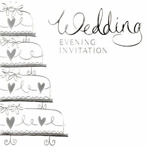 Details About 36 X Wedding Evening Party Invitation Cards Envelopes Wedding Cake Dp276