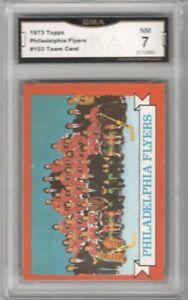 1973-74-Topps-103-Philadelphia-Flyers-Team-Graded-NM