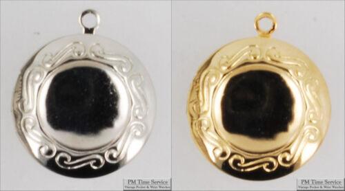 conception en métal Connecteurs avec collier Options Petit Rond Gravé Médaillon