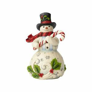 Jim-Shore-Snowman-Holding-Candy-Cane-Christmas-Figurine-6001477-New