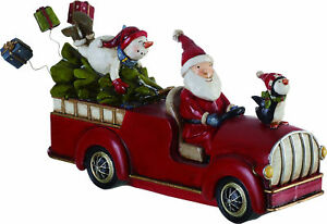 The Holiday Aisle Aaron Resin Santa and Snowman Car