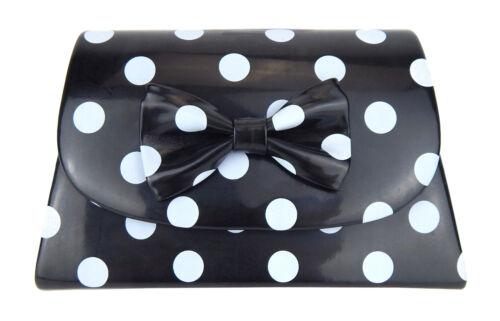 Rockabilly Tasche schwarz hellgraue Punkte Ella Jonte Handtasche Retro gepunktet