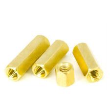 UNC 3//8-16 Brass Hex Nut Hexagon Long Rod Coupling Connector Stud Standoff丨S=15