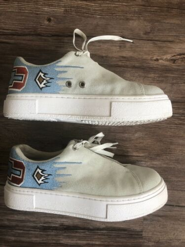 EYTYS Doja Esther Mahlangu embroidered suede leath
