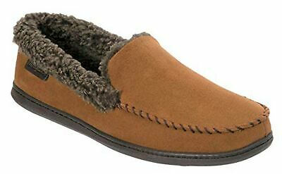 Dearfoams Mens Microfiber Suede Clog with Whipstitch Slipper