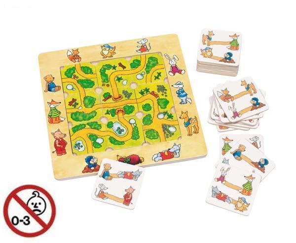 GOKI Legespiel FINDE DEN WEG aus Holz Holzspielzeug * 56944 * NEU