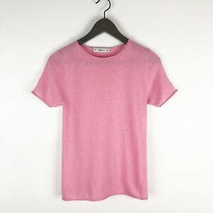 Zara-Knit-Sweater-Top-Womens-Size-Small-Pink-Short-Sleeve-Top