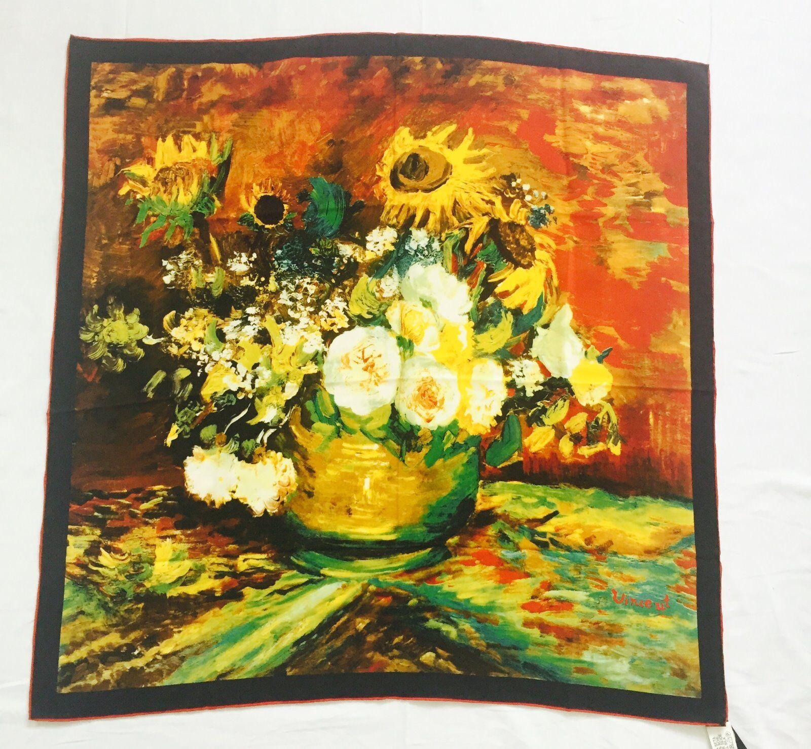 Seidentuch, Vincent van Gogh, Vase mit Blaumen, neu | Grüne, neue Technologie  | In hohem Grade geschätzt und weit vertrautes herein und heraus