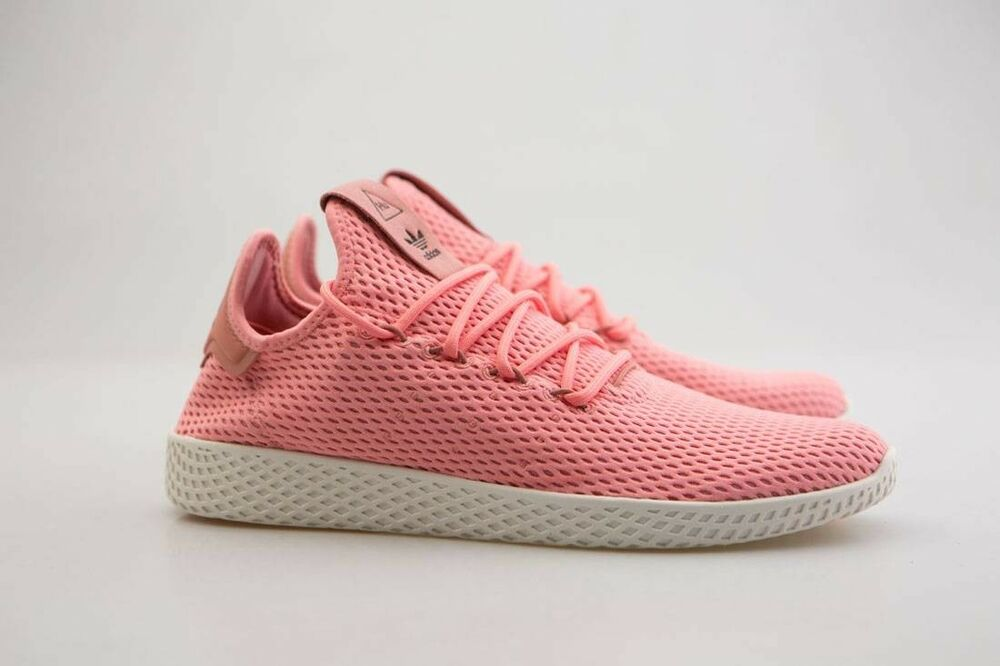 BY8715 Adidas x Pharrell Williams homme Tennis HU pink tactile rose raw pink