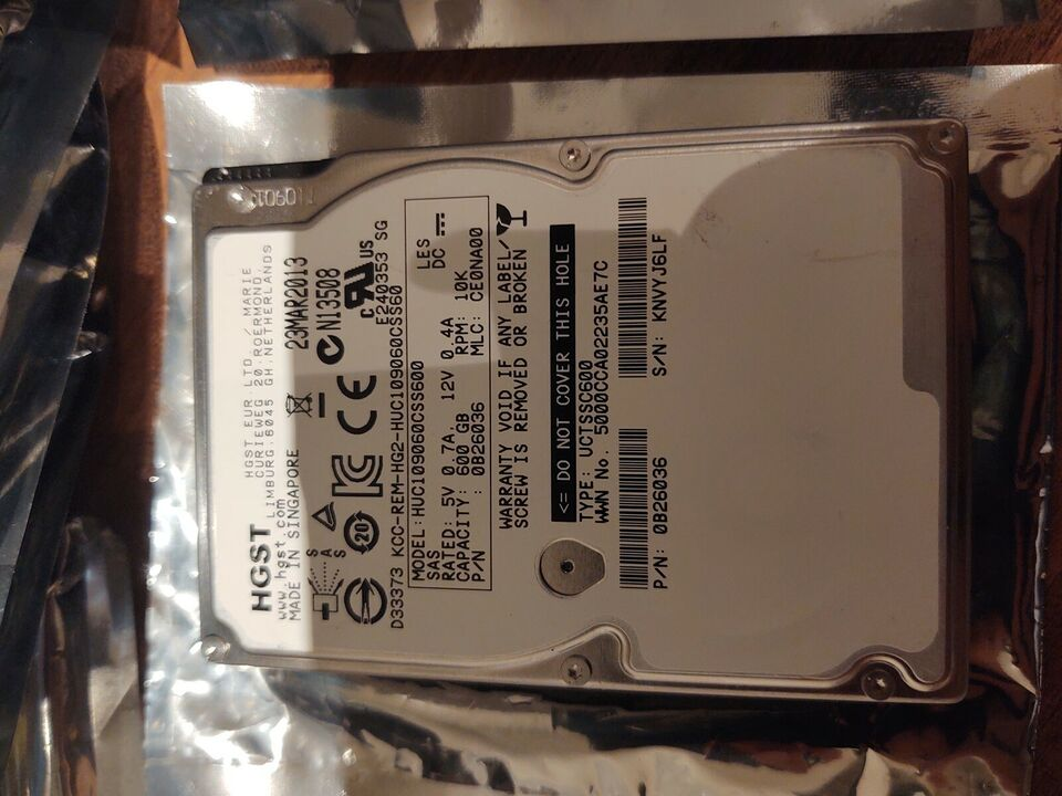 Hgst, 600 GB, Perfekt