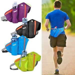 Caribee Road Runner Hydration Belt Bum Bag Water Bottle Waist Hiking Biker Black