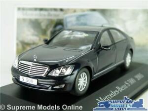 MERCEDES-BENZ-S-500-modello-auto-scala-1-43-Blu-Scuro-2005-IXO-Saloon-S-Class-K8