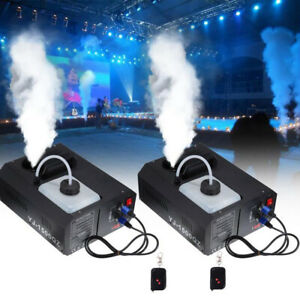 2PCS 1500W Appareil Diffuseur de Fumée Machine à Brouillard Disco Fogger DMX 512