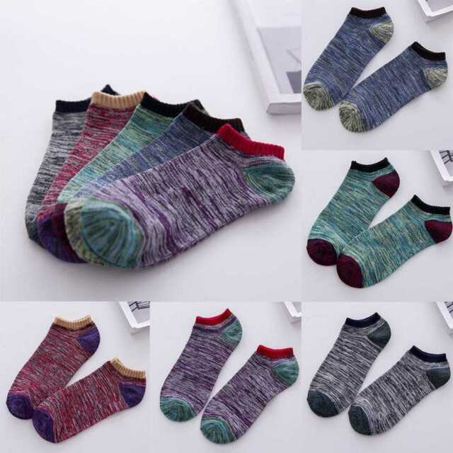 Men Cotton Blend Casual Short Ankle Low Cut Invisible Sport Socks TOP