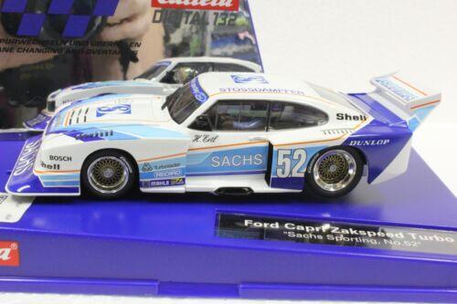 Carrera Digital 132 30831 Ford Capri Zakspeed Turbo Sachs #52 1//32 Slot Car