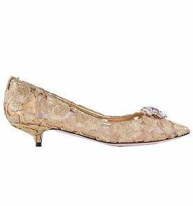f716cf8bffb Image is loading DOLCE-amp-GABBANA-BELLUCCI-Crystals-Embellished-Lace-Pumps-