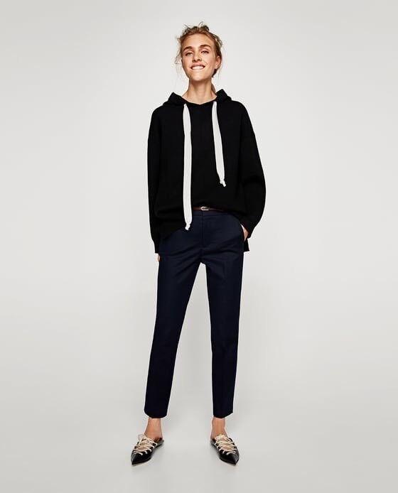 Zara Basic Women's Trouser In Navy Size 12