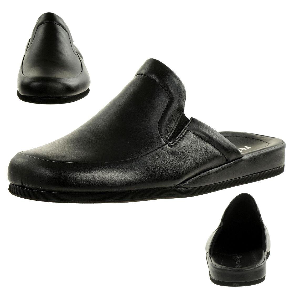 Rohde Varberg Herren Pantoffeln Hausschuhe Schuhe 6607 90 schwarz