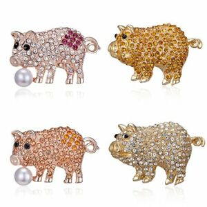 Lovely-Crystal-Pig-Animal-Brooch-Pin-Women-Girls-Gift-Costume-Brestpin-Jewelry