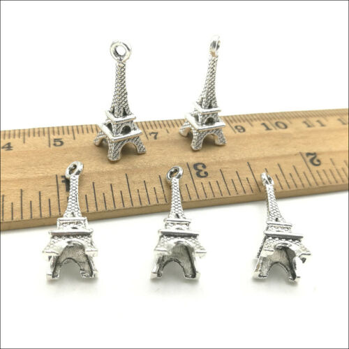 10//30//80pcs Mini Eiffel Tower Jewelry Making Alloy Charm Pendant DIY 22*8mm