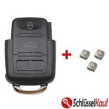 VW Klappschlüssel 3 Tasten Gehäuse Volkswagen Seat Skoda Autoschlüssel+3x TASTER