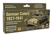 German Colors 1927-1941 (WW2 Vehicles): 8 Airbrush Paint Set (Vallejo 71205)