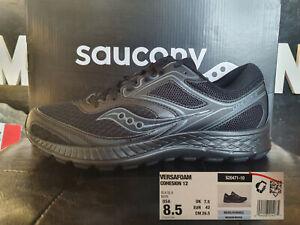 Dettagli su Saucony Versafoam Cohesion 12 Nere Uomo Running EU42 USA8,5 n 232