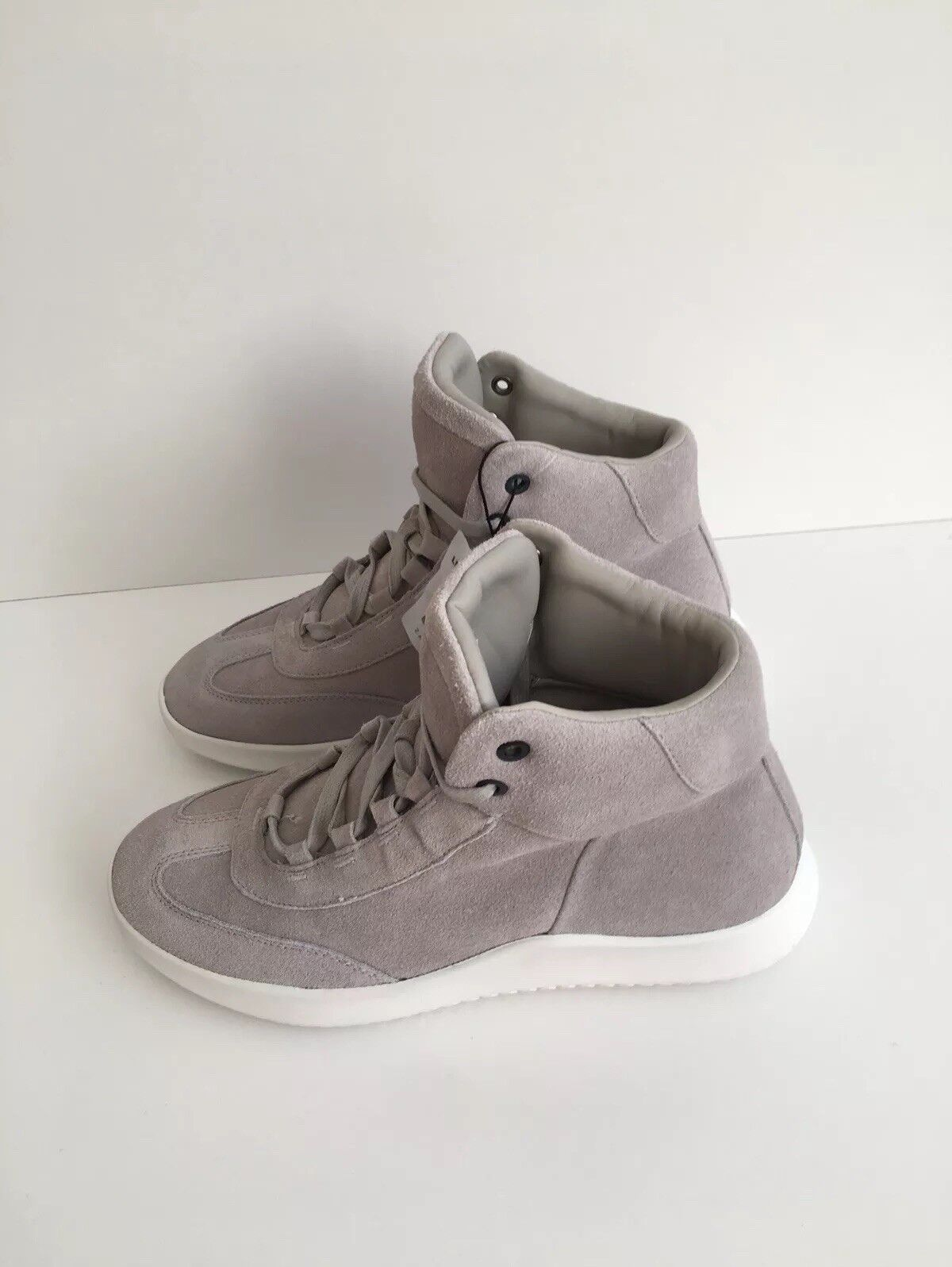 ZARA MAN GREY LEATHER SUEDE FINISH HIGH UK TOP SNEAKERS TRAINERS SIZE UK HIGH 9 BNWT NEW 5bca12