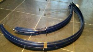 """VINTAGE RALEIGH BICYCLE 26"""" MUDGUARDS FENDERS SET 1970s In Blue"""