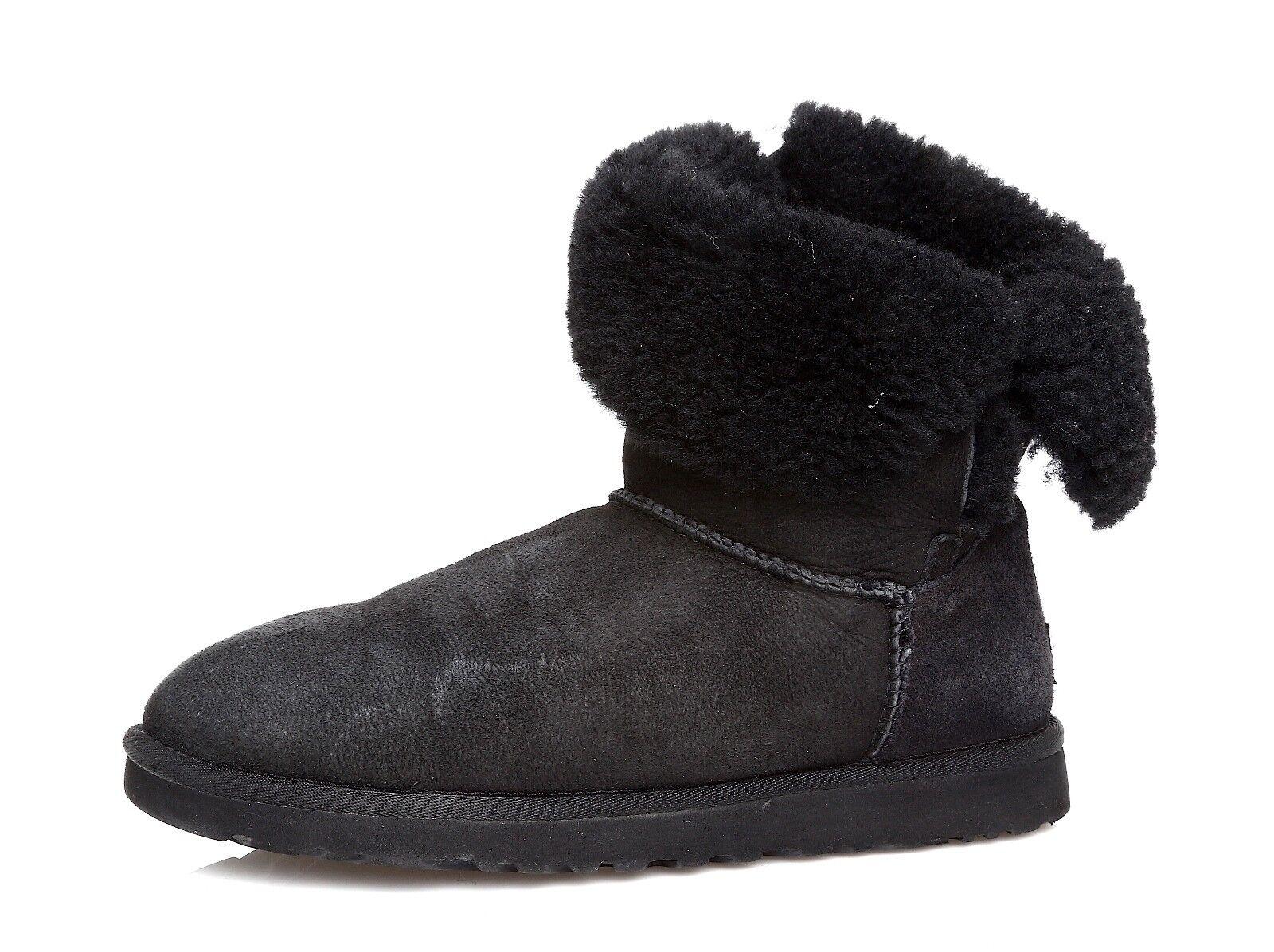UGG Bailey Button II Suede Boot fekete női Sz 8 W 4367 *