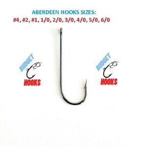 ABERDEEN HOOKS SIZES #4, #2, #1, 1/0, 2/0, 3/0, 4/0, 5/0, 6/0 CHEAPEST ON EBAY!