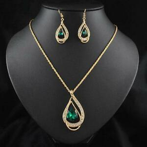 Crystal-Chain-Jewelry-Sets-18k-Gold-Plated-Necklace-Earring