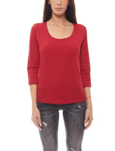 Eddie Bauer Damen 3//4-Arm T-Shirt bequemes Basic-Shirt Rot