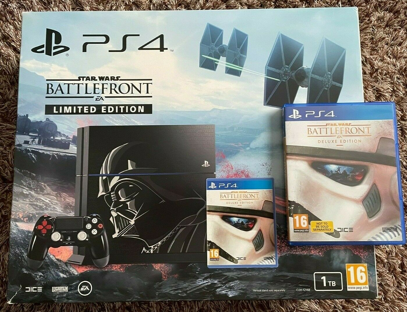 Sony PlayStation 4 Console Star Wars Battlefront Limited Edition 1TB Used