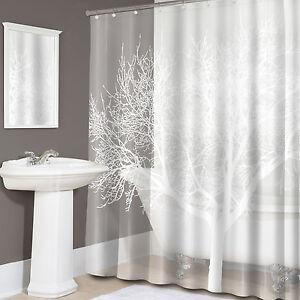 Image Is Loading Tree Print EVA PEVA Shower Curtain 70 034