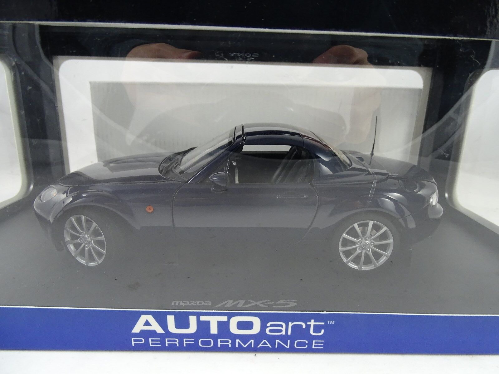 1 18 Autoart Mazda Mx-5 Stormy bluee with Folding Roof - Rarity §