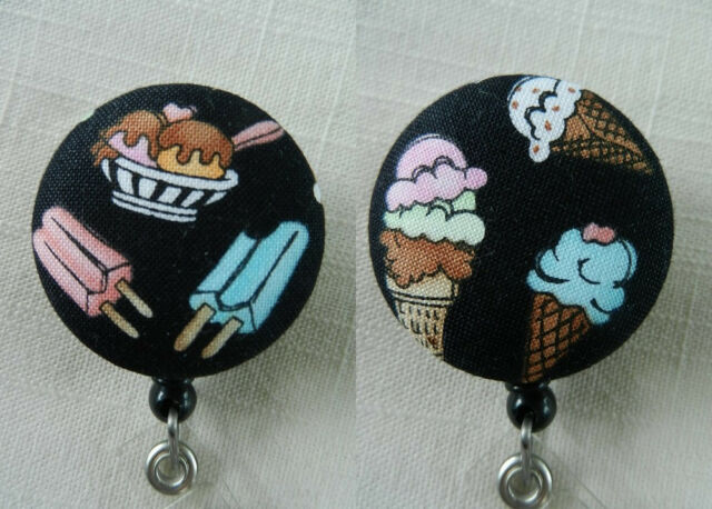 Ice Cream Badge Reel~Retractable ID/Name Badge Holder Reel