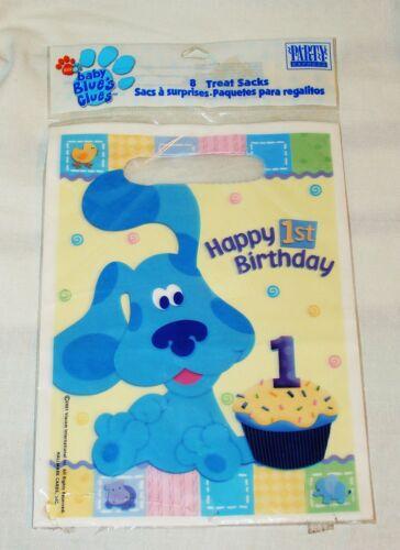 ~ BLUE/'S CLUES ~ 1st Anniversaire 8 Loot Sacs Party Supplies