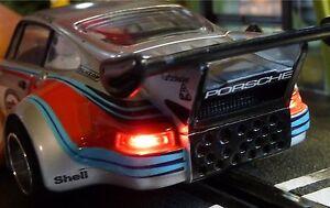 Slotcar-LED-Beleuchtung-WARMWEISS-Front-amp-Heck-mit-STANDLICHT-fuer-Carrera-88888