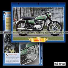 #024.07 Fiche Moto YAMAHA XS 1 650 1970 Motorcycle Card