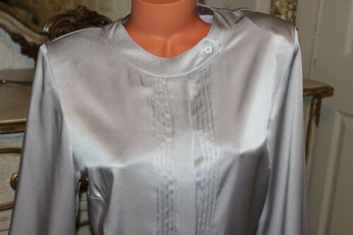 Ladies In Size16 Grey Long Cotswold Collections Smart Blouse Sleeved Shiny Top a1wqfx5qH
