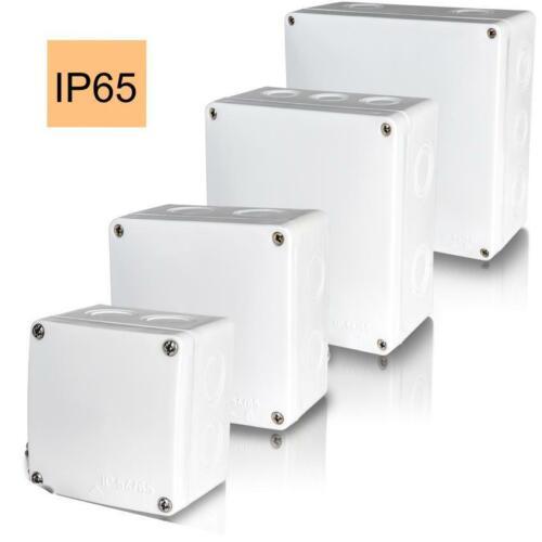 Feuchtraum Abzweigkasten IP65 Aufputz Verteilerdose Größe wählbar