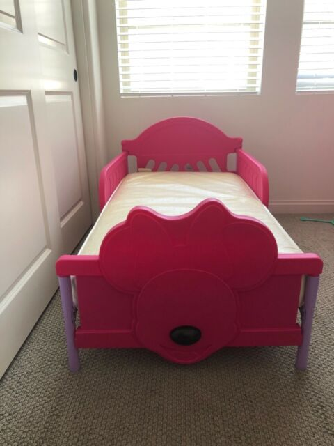 Minnie mouse toddler bed and mattress | eBay