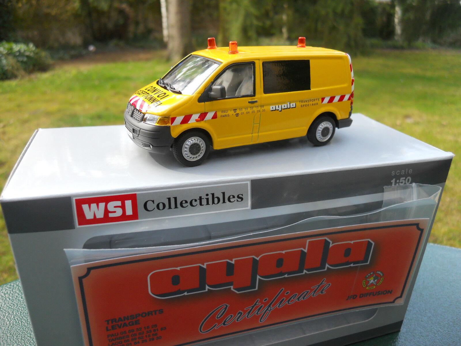 WSI MODELS 02-1532 VW TRANSPORTEUR VOITURE D'ACCOMPAGNEMENT AYALA NEUF BOITE