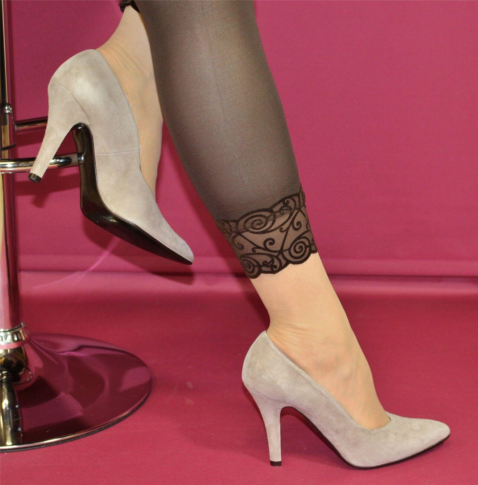 edle sandfarbene Wildleder-Pumps High Heels von Patrizia Dini