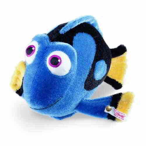 """STEIFF /""""DISNEY DORY/"""" EAN 354891 BLUE//BLACK YELLOW MOHAIR FISH//FRIEND OF NEMO"""