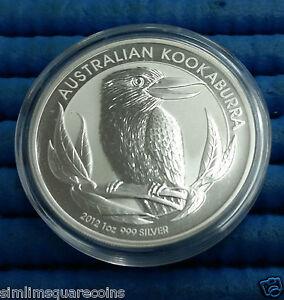 2012-Australia-1-Kookaburra-1-oz-999-Fine-Silver-Coin-in-capsule
