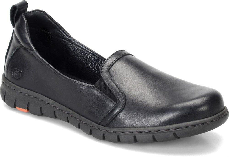 Frisch Geborener Damen Meyer Slip On Schuhe Leder Slipper D91203 Schwarz Sz 7.5